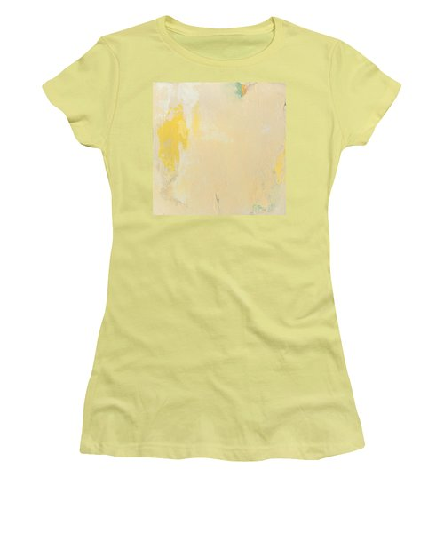 Untitled Abstract - Bisque With Yellow Women's T-Shirt (Athletic Fit)