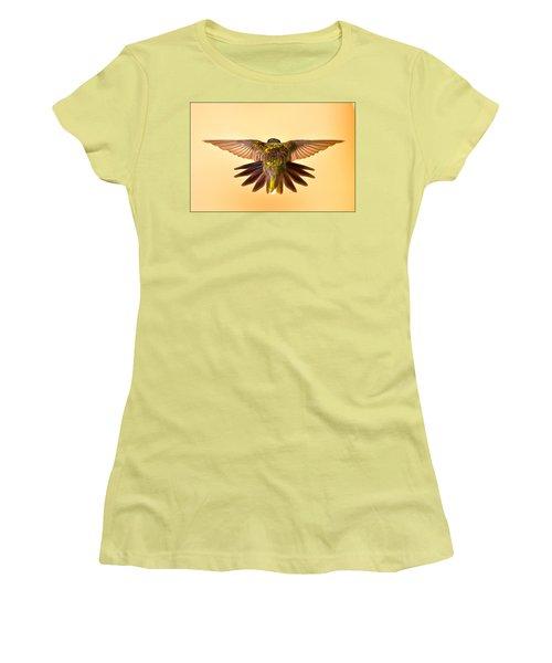 Women's T-Shirt (Junior Cut) featuring the photograph Usaf Hummingbirds Wings by Randall Branham