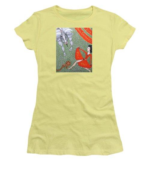Women's T-Shirt (Junior Cut) featuring the painting Viva Dona Carmen by Marie Schwarzer