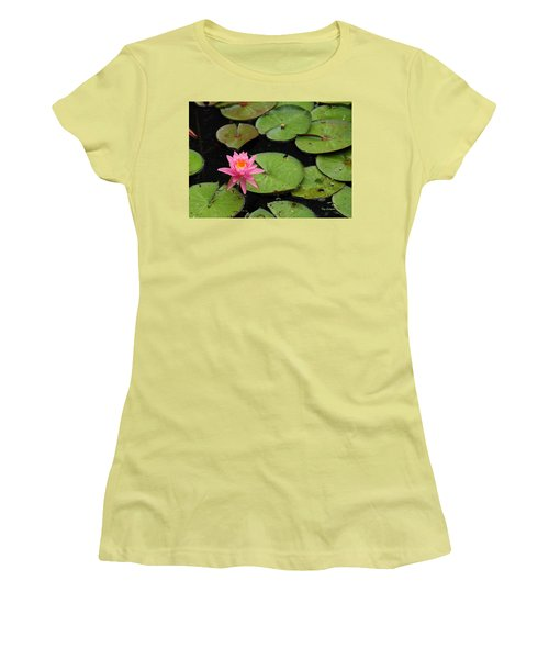 Water Lily Women's T-Shirt (Junior Cut) by Kay Lovingood