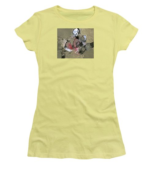 Women's T-Shirt (Junior Cut) featuring the painting Welterweight  by Cliff Spohn