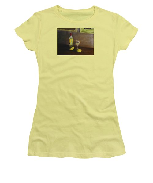 White Wine And Mangoes Women's T-Shirt (Athletic Fit)