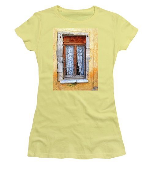 Women's T-Shirt (Junior Cut) featuring the photograph Window Provence France by Dave Mills