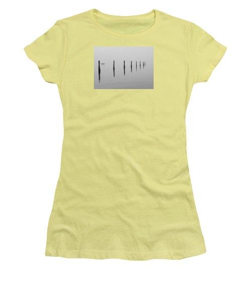 Fog And Reflections Women's T-Shirt (Junior Cut) by Christina Lihani