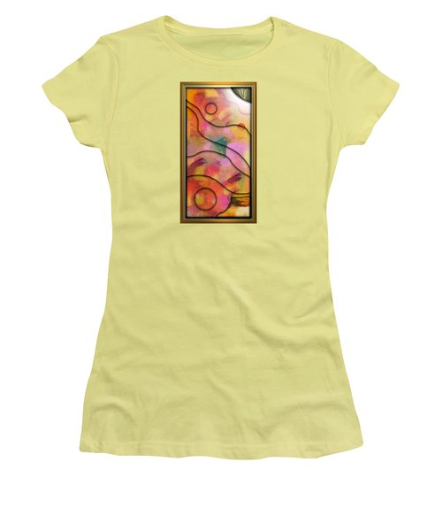 '' Days End - Setting Sun Over Mesasauga Canyon '' Women's T-Shirt (Athletic Fit)