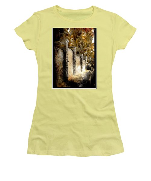 Women's T-Shirt (Junior Cut) featuring the photograph   Flowing Waterfall  by Athala Carole Bruckner