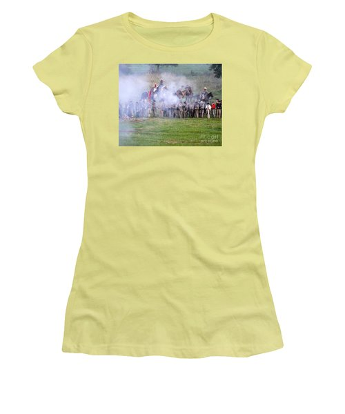Gettysburg Confederate Infantry 7503c Women's T-Shirt (Athletic Fit)