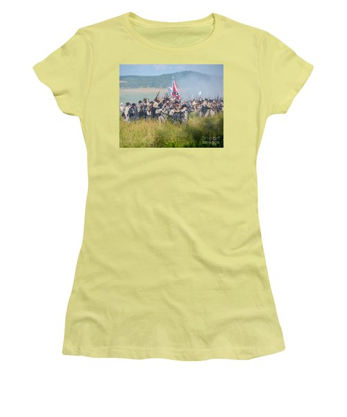Gettysburg Confederate Infantry 9214c Women's T-Shirt (Athletic Fit)