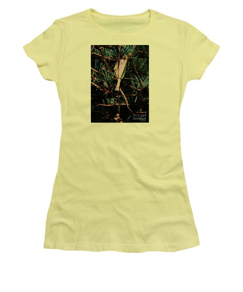 Hanging Mantis  Women's T-Shirt (Junior Cut) by J L Zarek