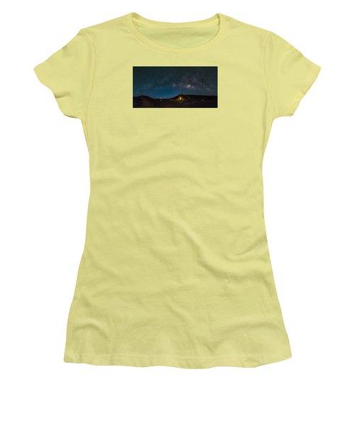 Milky Way Over Haleakala Women's T-Shirt (Athletic Fit)