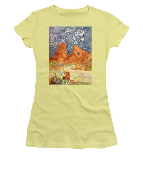 Starry Night In The Desert Women's T-Shirt (Athletic Fit)