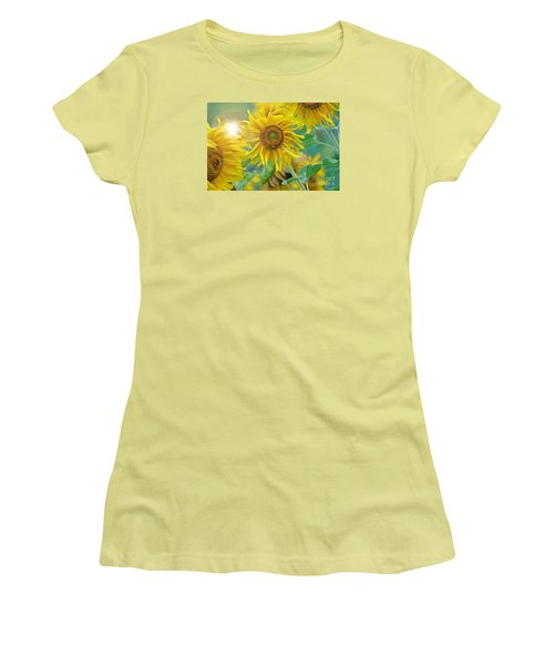 Sunflower Women's T-Shirt (Junior Cut) by Lila Fisher-Wenzel
