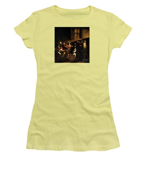 The Calling Of Saint Matthew Women's T-Shirt (Athletic Fit)
