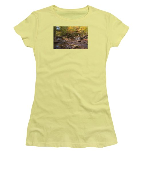 Watching The Waters Meet Women's T-Shirt (Junior Cut) by Gene Walls