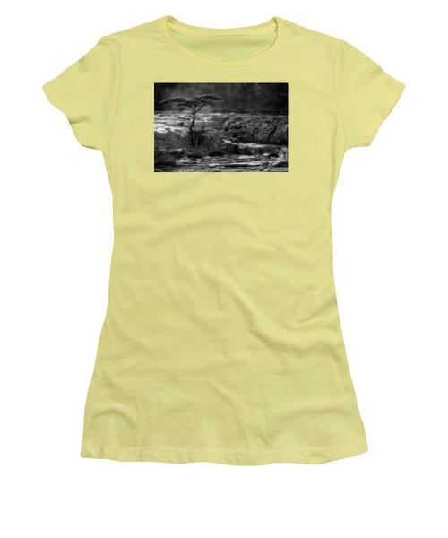 Wood Women's T-Shirt (Junior Cut) by Hayato Matsumoto
