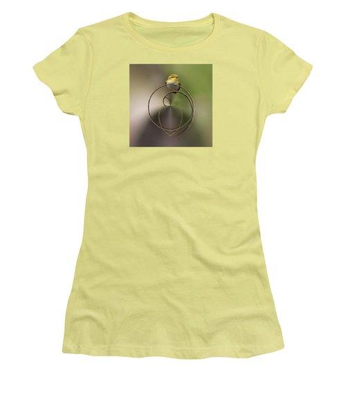 Wood Warbler Women's T-Shirt (Junior Cut) by Jouko Lehto