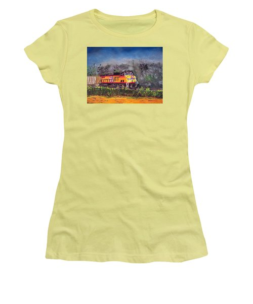 021216 East Bound Women's T-Shirt (Junior Cut) by Garland Oldham