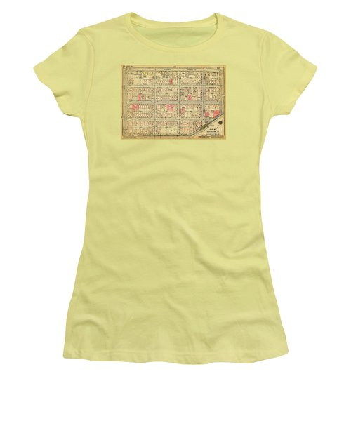 1927 Inwood Map  Women's T-Shirt (Athletic Fit)