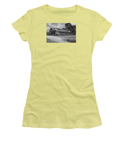 Abandoned Grocery Store Women's T-Shirt (Junior Cut) by Ronald Olivier