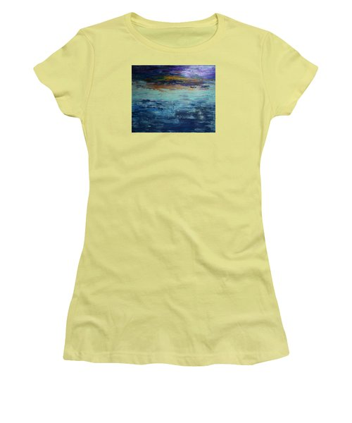 Abstract Blue Women's T-Shirt (Athletic Fit)