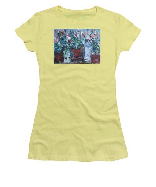 Abstract Flowers Women's T-Shirt (Junior Cut) by Betty Pieper