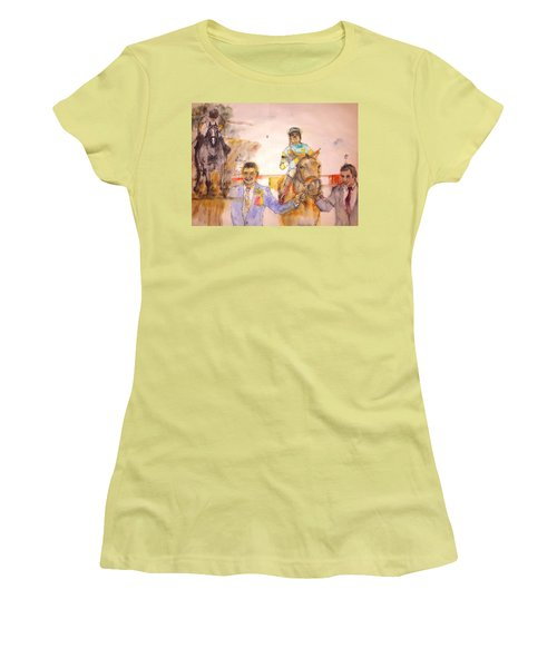 American Pharaoh Abum Women's T-Shirt (Junior Cut) by Debbi Saccomanno Chan