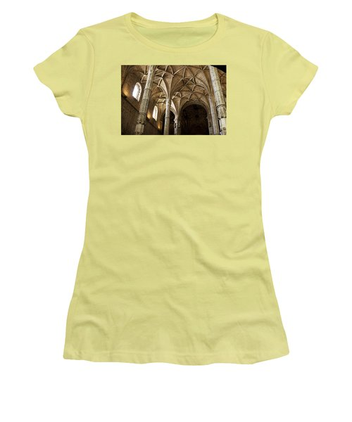 Lisbon Cathedral's Ancient Arches  Women's T-Shirt (Athletic Fit)