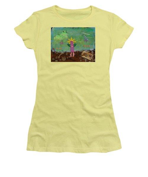 April Showers Women's T-Shirt (Athletic Fit)