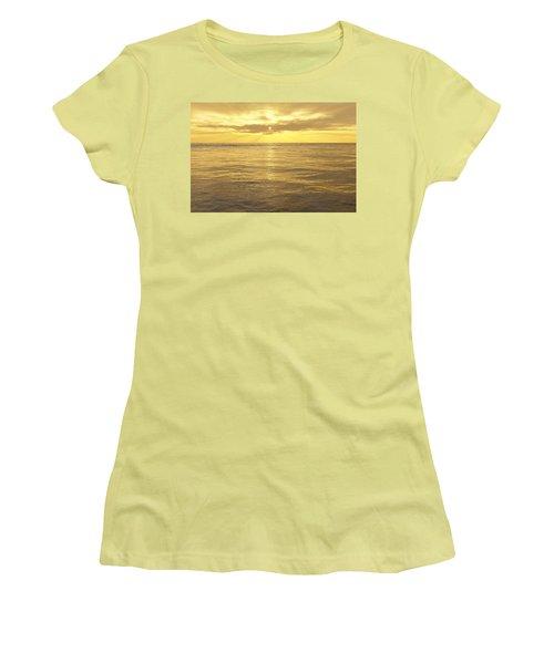 Women's T-Shirt (Junior Cut) featuring the digital art Ocean View by Mark Greenberg