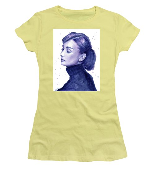 Audrey Hepburn Portrait Women's T-Shirt (Athletic Fit)