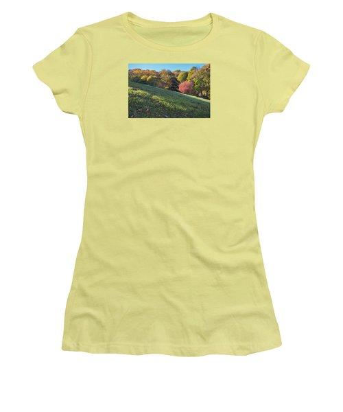 Women's T-Shirt (Junior Cut) featuring the photograph Autumn Palette by Tom Singleton