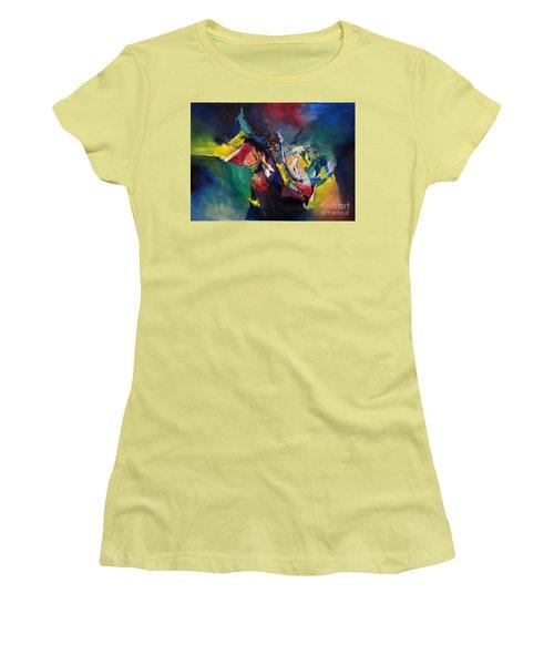 Aztec Man Women's T-Shirt (Junior Cut) by Glory Wood