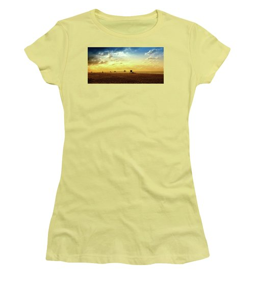 Beach Pier Women's T-Shirt (Junior Cut) by Joseph Hollingsworth