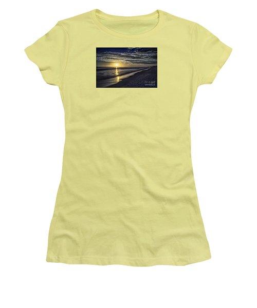 Beach Sunset 1021b Women's T-Shirt (Junior Cut) by Walt Foegelle