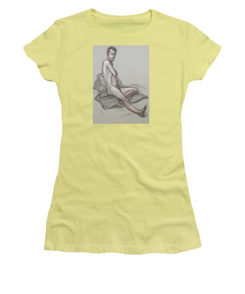 Bert Seated Women's T-Shirt (Junior Cut) by Donelli  DiMaria