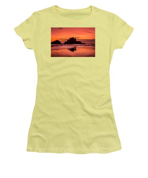 Big Sur Sunset Women's T-Shirt (Athletic Fit)
