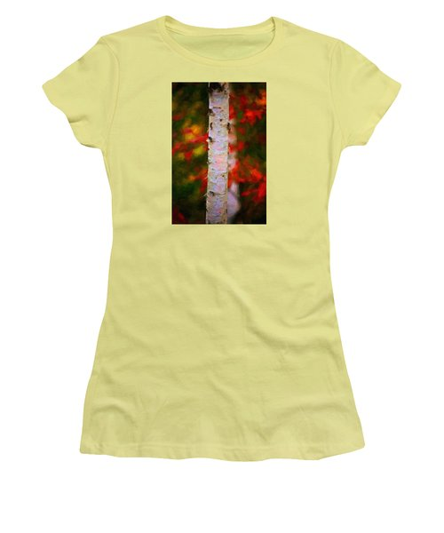 Birch Tree Women's T-Shirt (Athletic Fit)