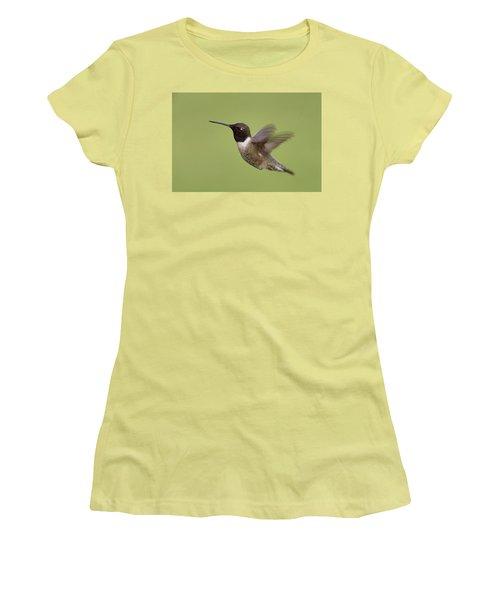 Black-chinned Hummingbird Women's T-Shirt (Junior Cut) by Doug Herr