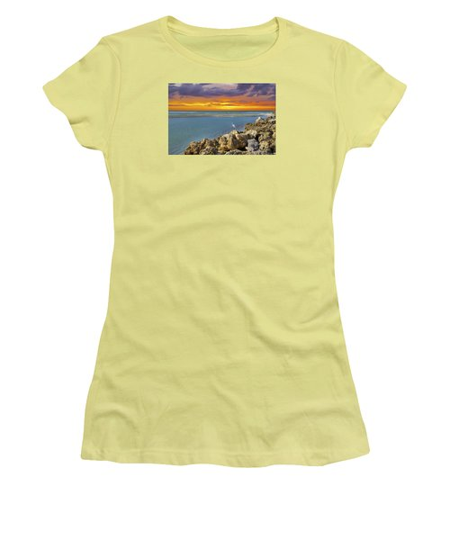 Blind Pass Sunset Women's T-Shirt (Junior Cut) by Sean Allen