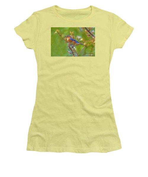 Bluebird Women's T-Shirt (Junior Cut) by Marion Johnson