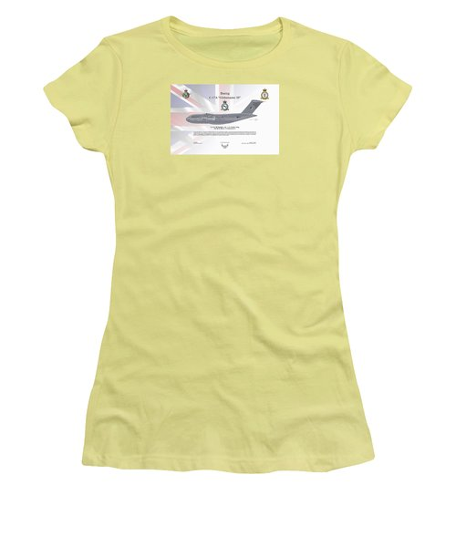 Women's T-Shirt (Junior Cut) featuring the digital art Boeing C-17 Globemaster IIi by Arthur Eggers