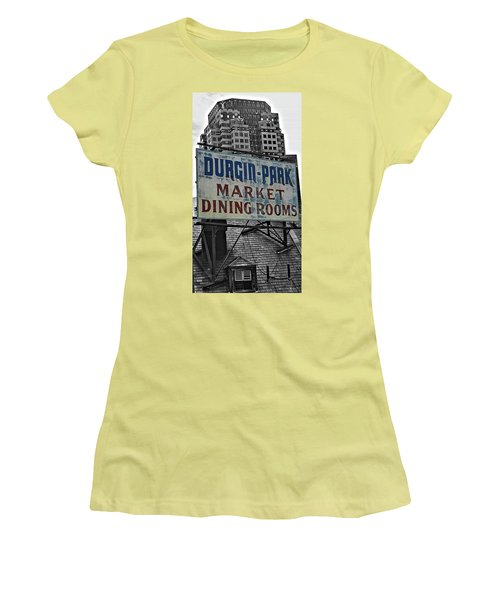 Women's T-Shirt (Junior Cut) featuring the photograph Boston Icon by Bruce Carpenter