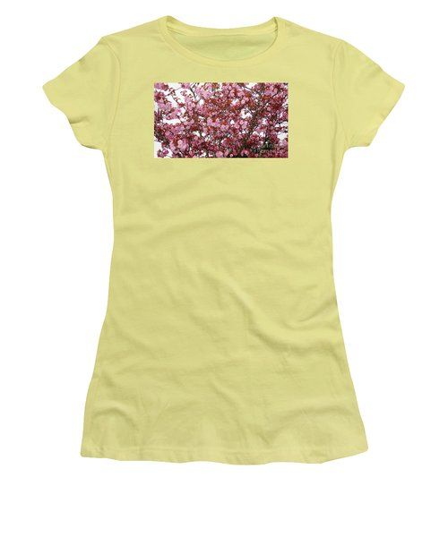 Women's T-Shirt (Junior Cut) featuring the photograph Cherry Blossoms  by Victor K