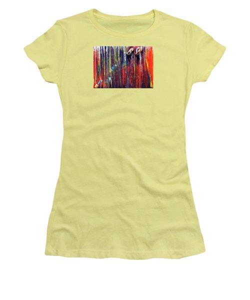 Climbing The Wall Women's T-Shirt (Junior Cut) by Ralph White