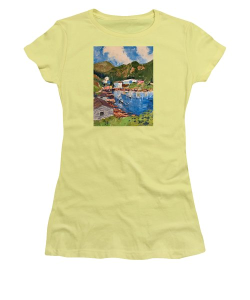 Coastal Village, Newfoundland Women's T-Shirt (Athletic Fit)
