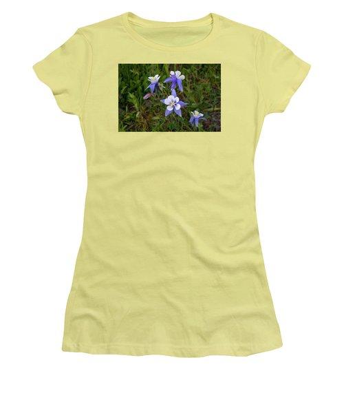 Women's T-Shirt (Junior Cut) featuring the photograph Colorado Columbine by Steve Stuller