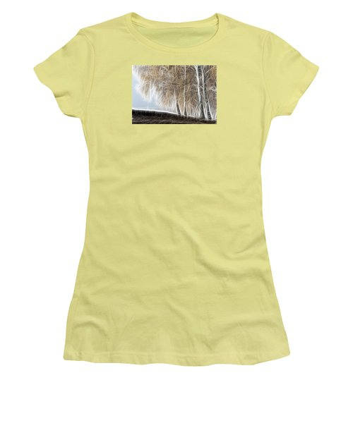 Colorful Misty Forest Women's T-Shirt (Junior Cut) by Odon Czintos