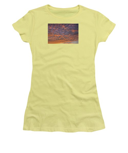 Colorful Women's T-Shirt (Junior Cut) by Wanda Krack