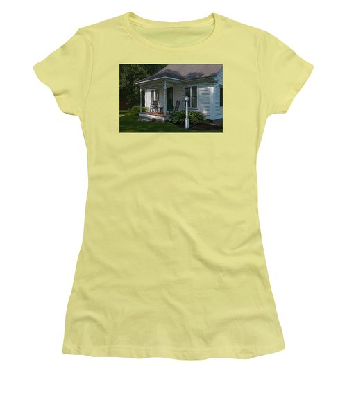 Come Sit On My Porch Women's T-Shirt (Junior Cut) by Brenda Jacobs