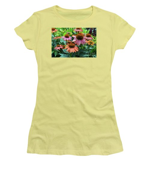Coneflower  Women's T-Shirt (Junior Cut) by Eva Kaufman